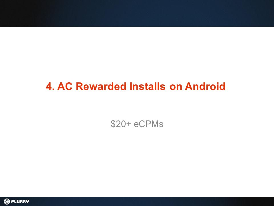 4. AC Rewarded Installs on Android $20+ eCPMs