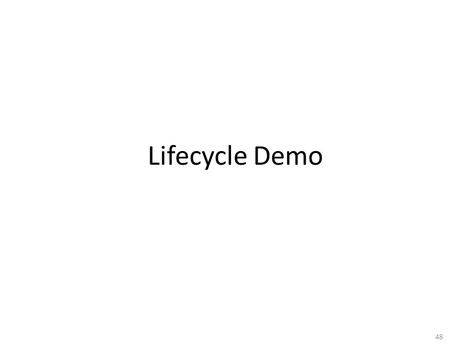 Lifecycle Demo 48