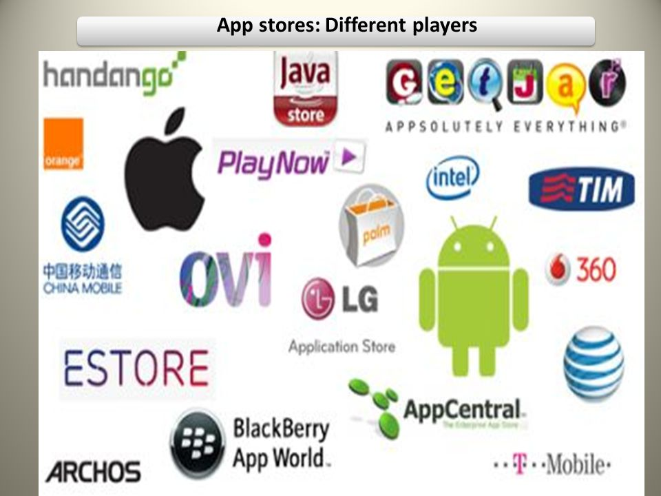 App stores: Different players