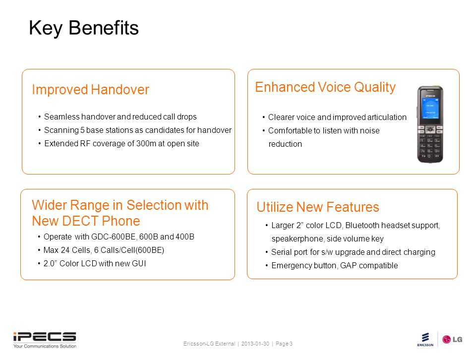 Ericsson-LG External | 2013-01-30 | Page 3 Slide title 30 pt Text and bullet level 1 minimum 24 pt Bullets level 2-5 minimum 20 pt Do not add objects
