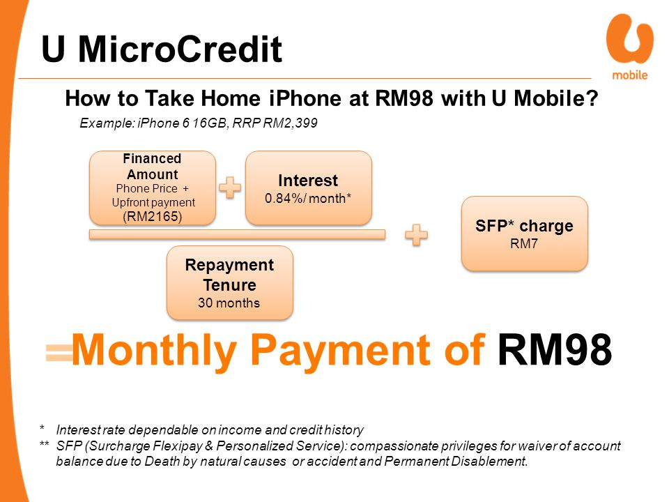 How to Take Home iPhone at RM98 with U Mobile.