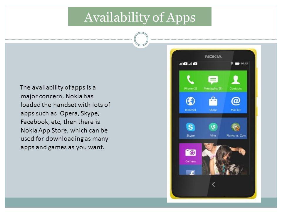 Availability of Apps The availability of apps is a major concern.