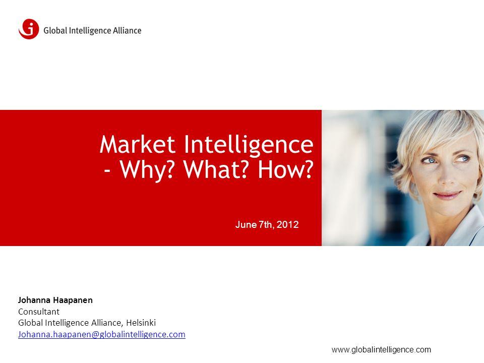 www.globalintelligence.com Market Intelligence - Why.