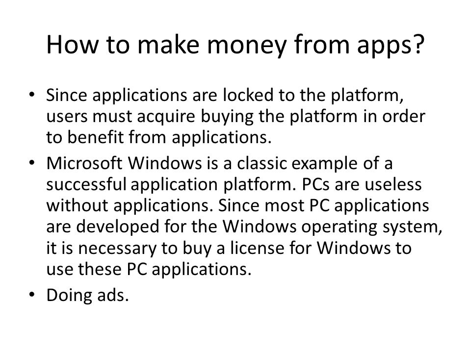 How to make money from apps.