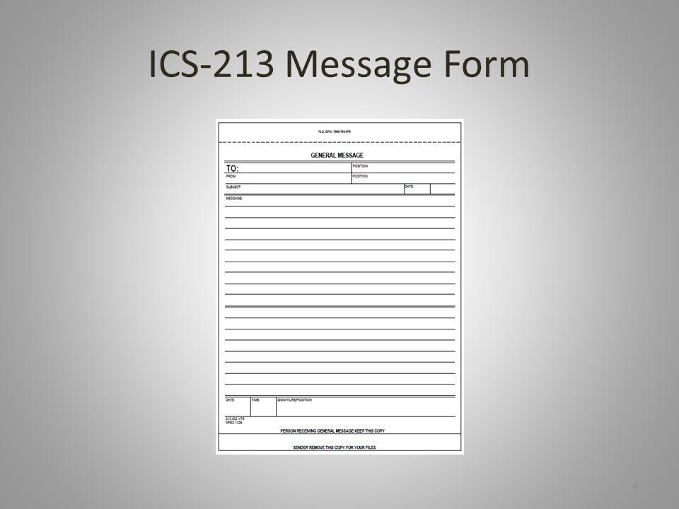 ICS-213 Message Form 4