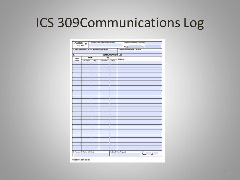 ICS 309Communications Log 5