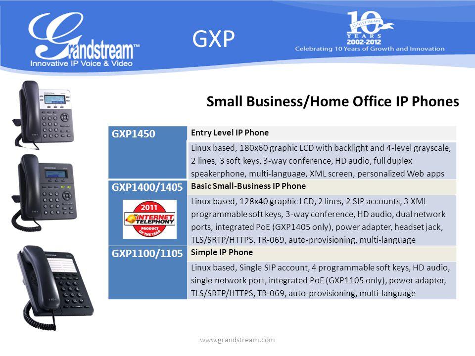 GXP2124 Enterprise HD IP Phone Introducing HT 702/704 Analog Telephone Adapter www.grandstream.com