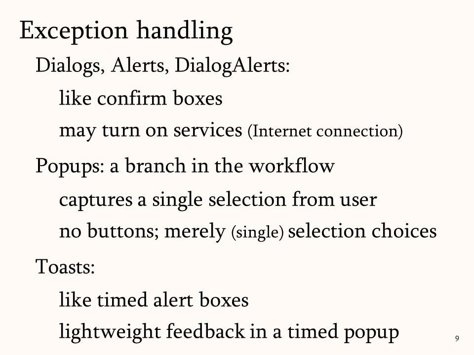 Create a dialog/alert box with a list: Lab: alert with list 60