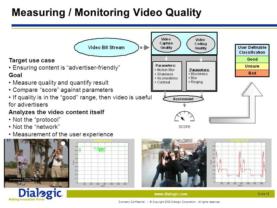 www.dialogic.com Company Confidential © Copyright 2008 Dialogic Corporation.