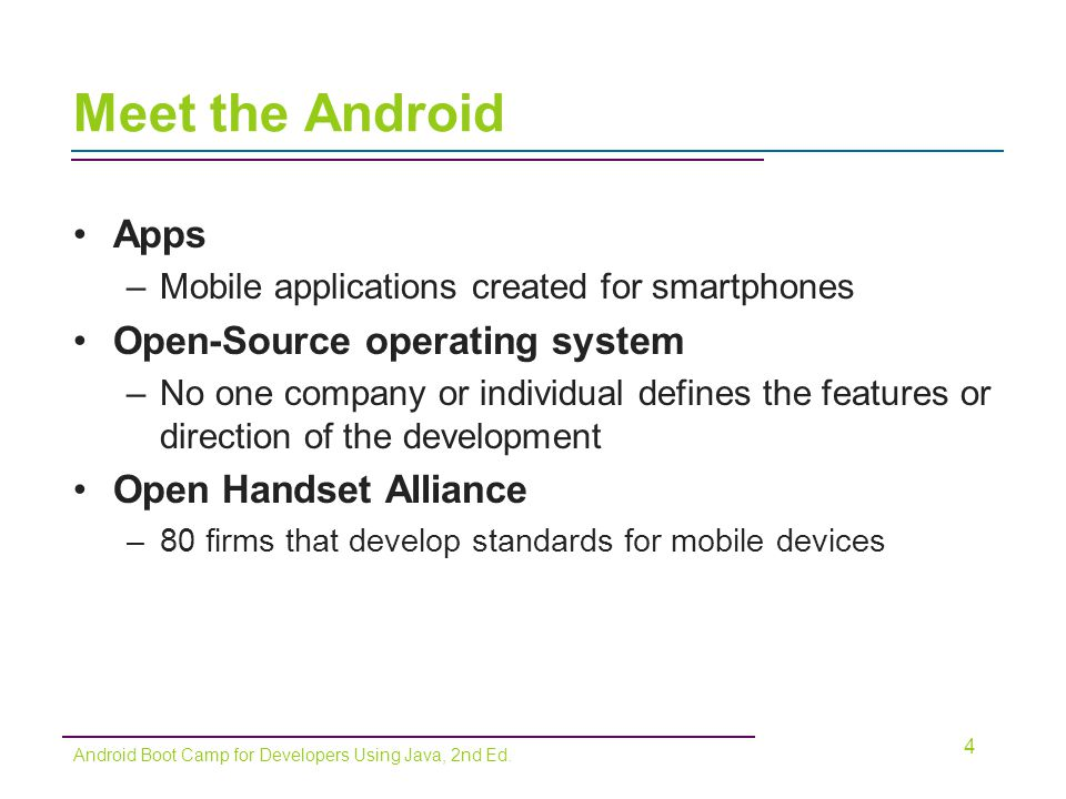 15 Android Boot Camp for Developers Using Java, 2nd Ed.