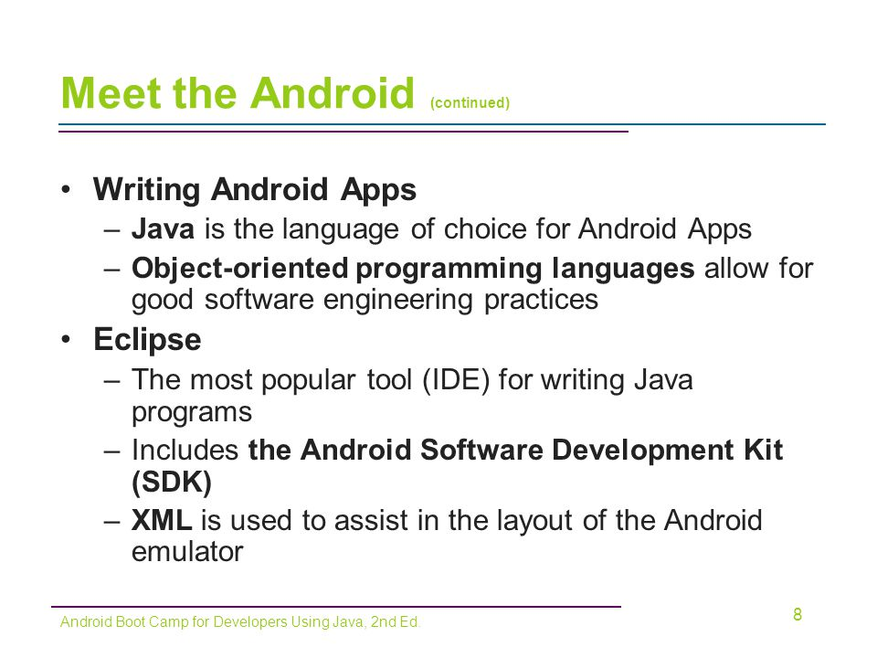 19 Android Boot Camp for Developers Using Java, 2nd Ed.