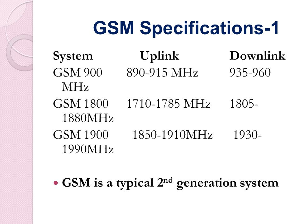 Performance characteristics of GSM Communication Mobile, wireless communication; support for voice and data srvices Total mobility International access, chip-card enables use of access points of different providers Worldwide connectivity One number, the network handles localization