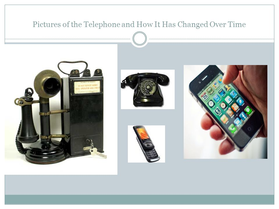 Pictures of the Telephone and How It Has Changed Over Time
