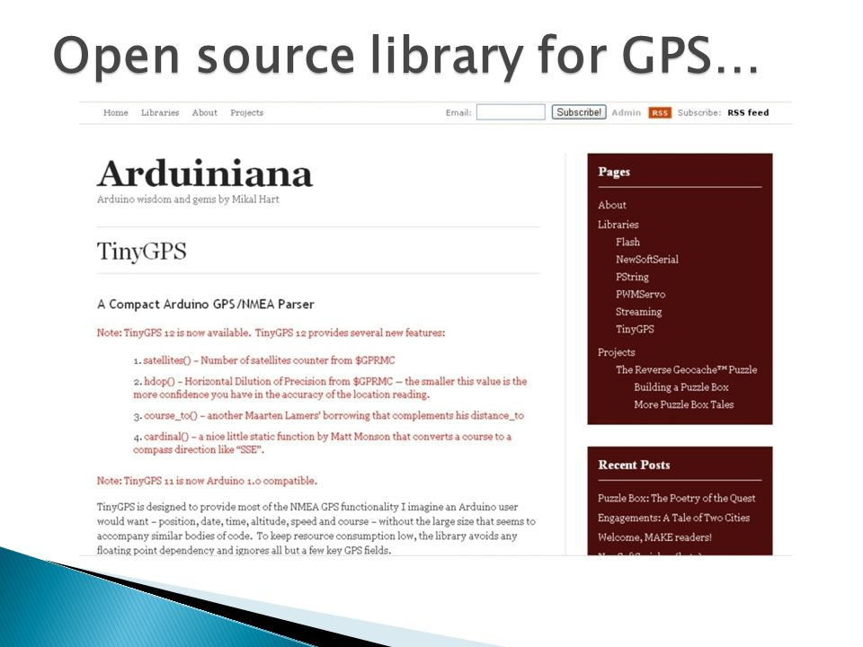 Open source library for GPS…