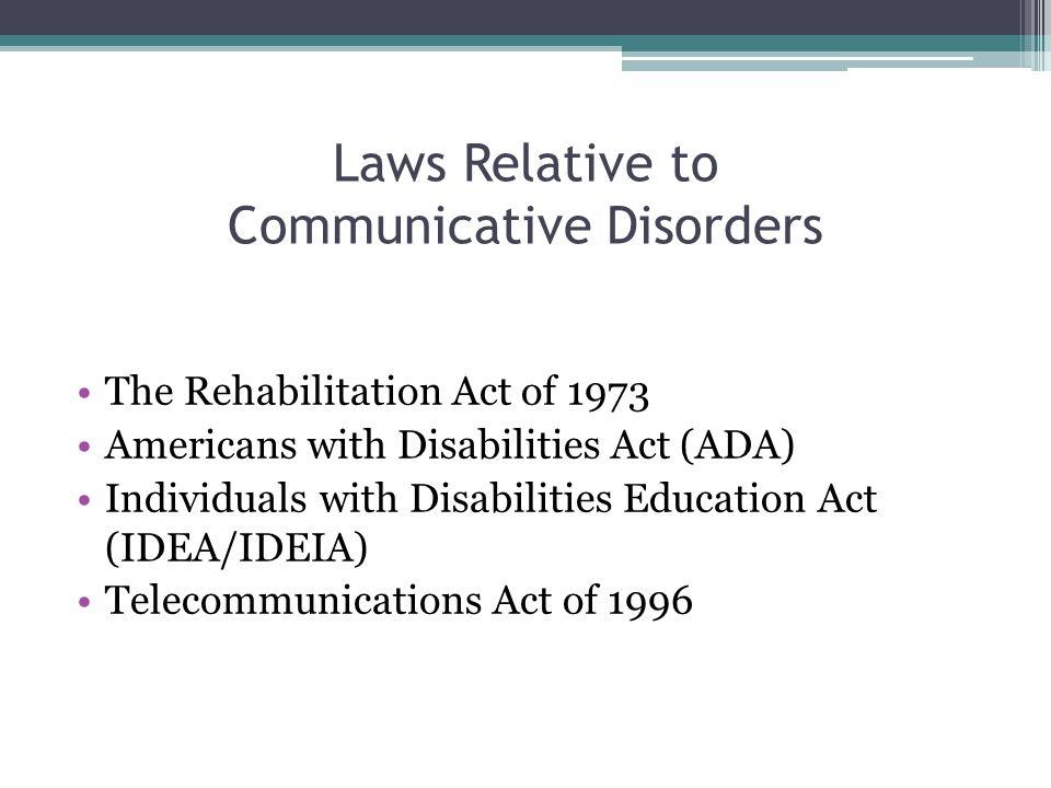 The Rehabilitation Act of 1973