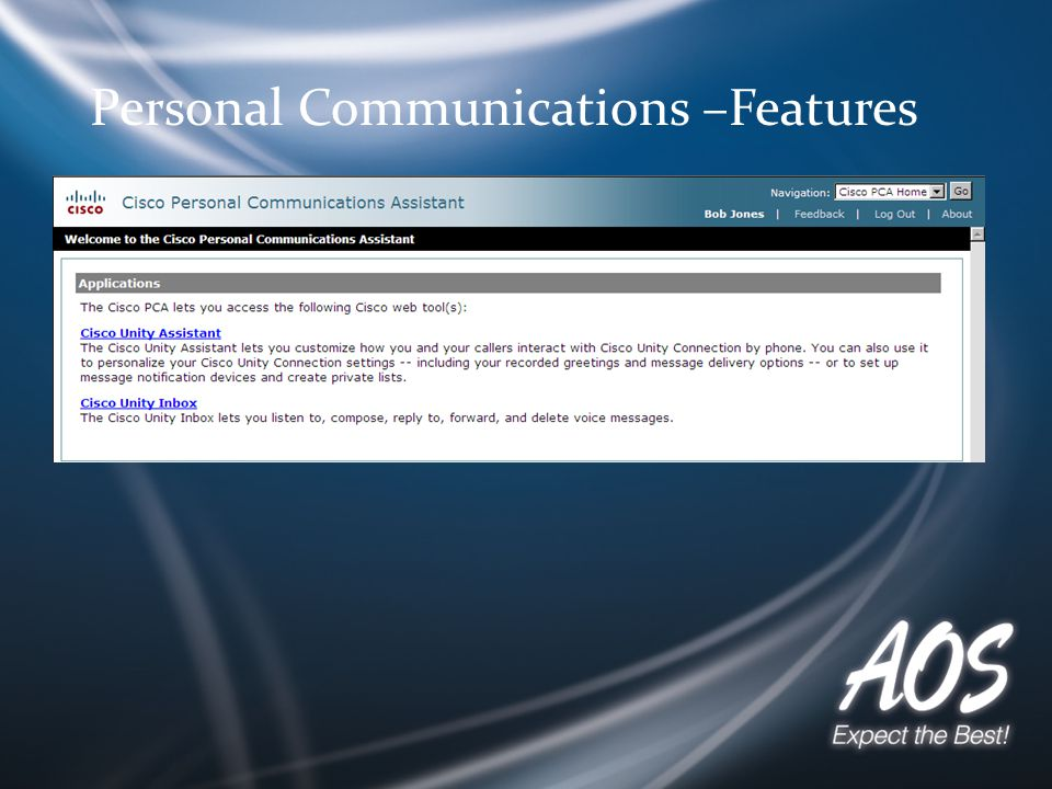 / Personal Communications –Features