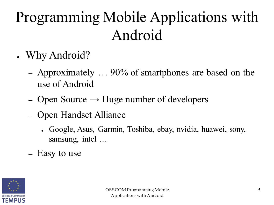 OSSCOM Programming Mobile Applications with Android 6