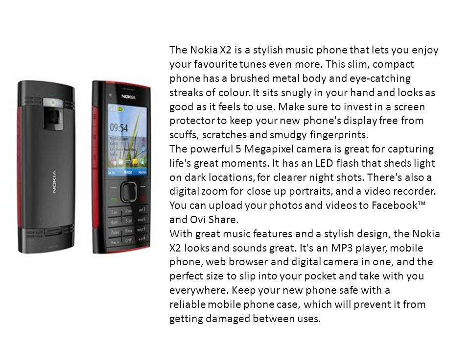 The Nokia X2 is a stylish music phone that lets you enjoy your favourite tunes even more.
