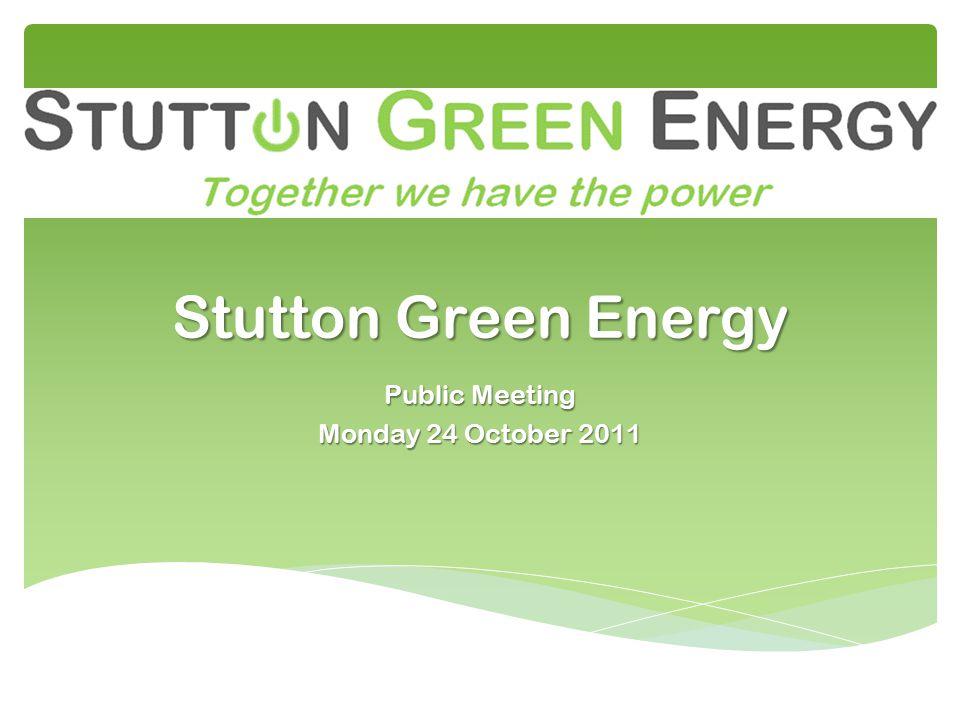 Stutton Green Energy Public Meeting Monday 24 October 2011