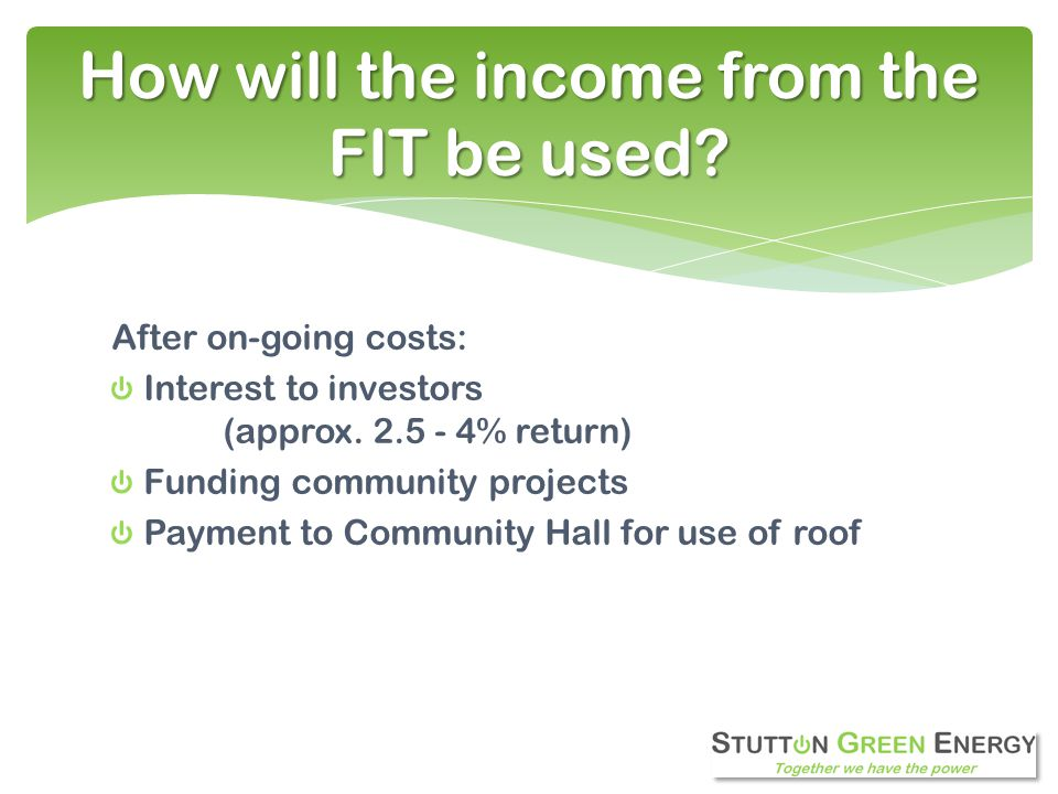 After on-going costs: Interest to investors (approx.