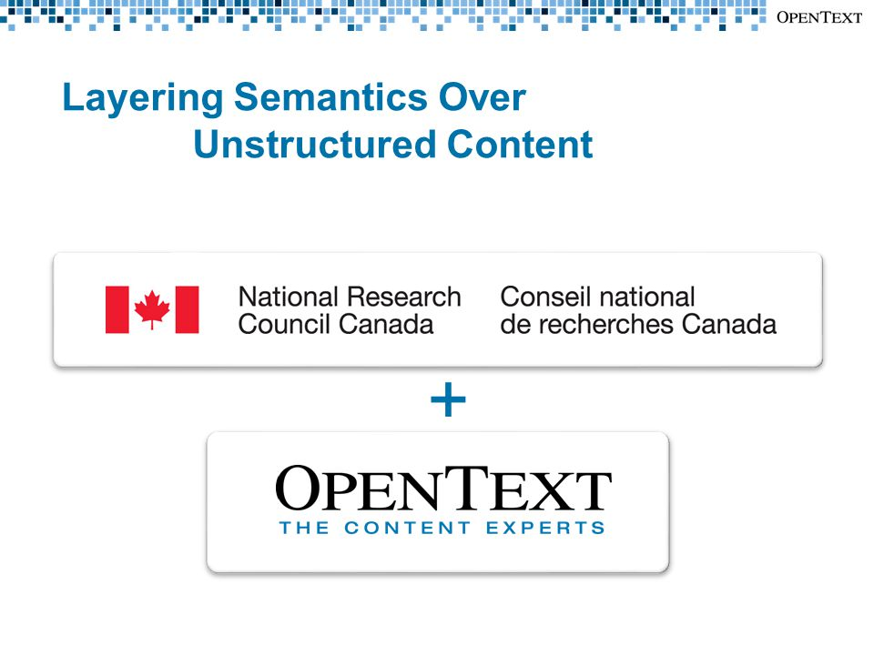 Layering Semantics Over Unstructured Content +