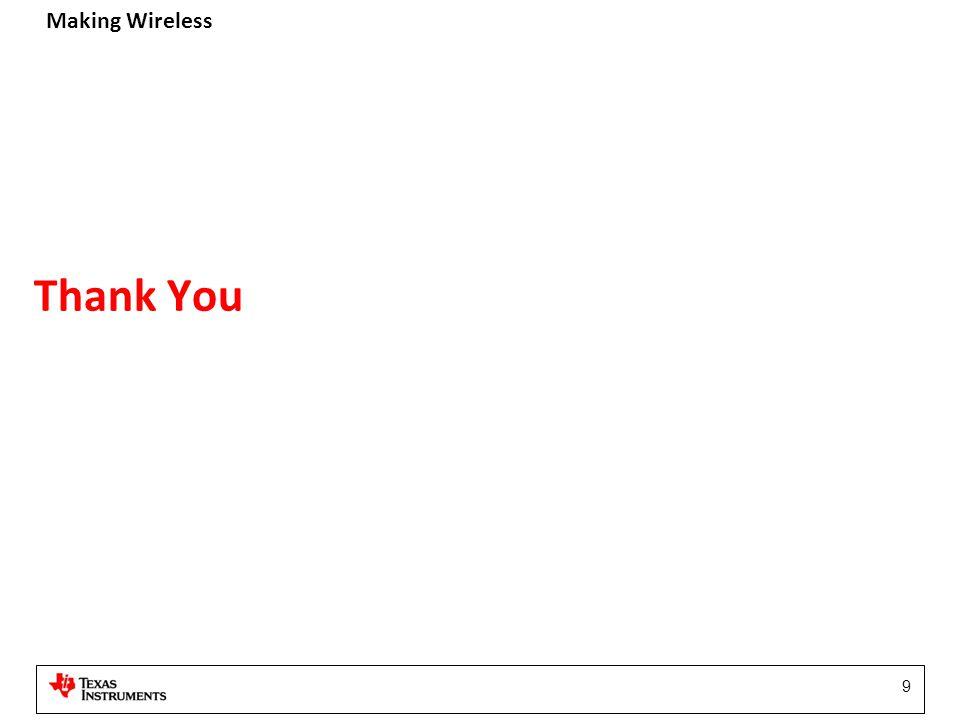Making Wireless 9 Thank You