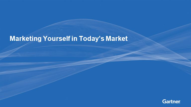 Marketing Yourself in Today's Market
