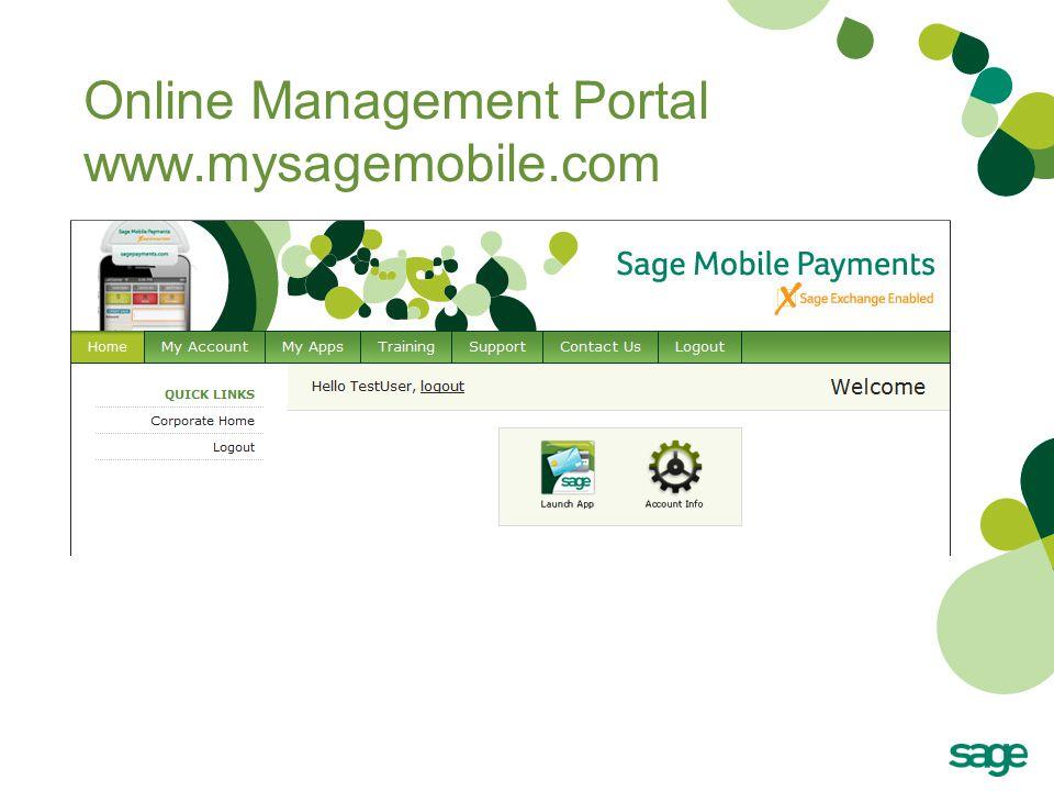 Online Management Portal www.mysagemobile.com