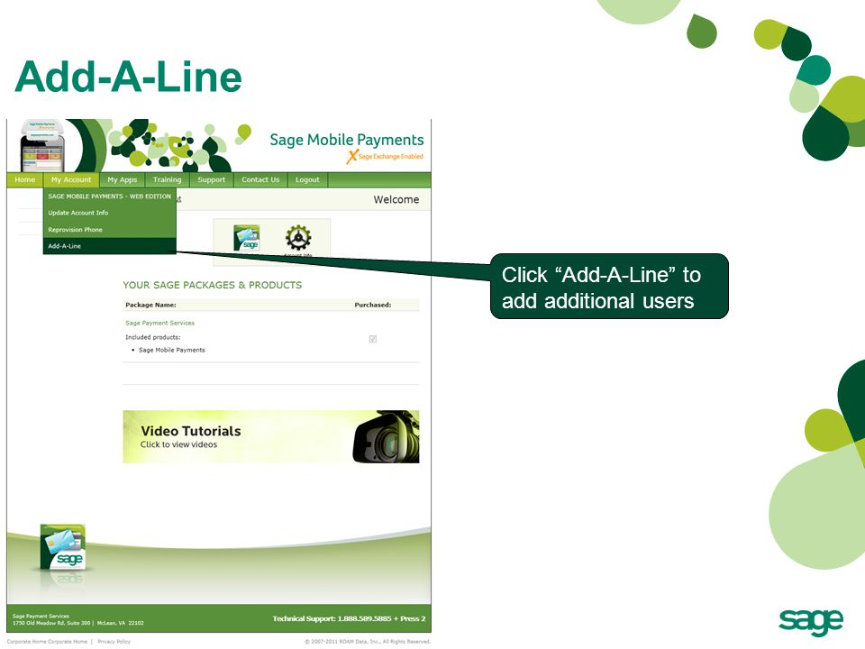 "Add-A-Line Click ""Add-A-Line"" to add additional users"