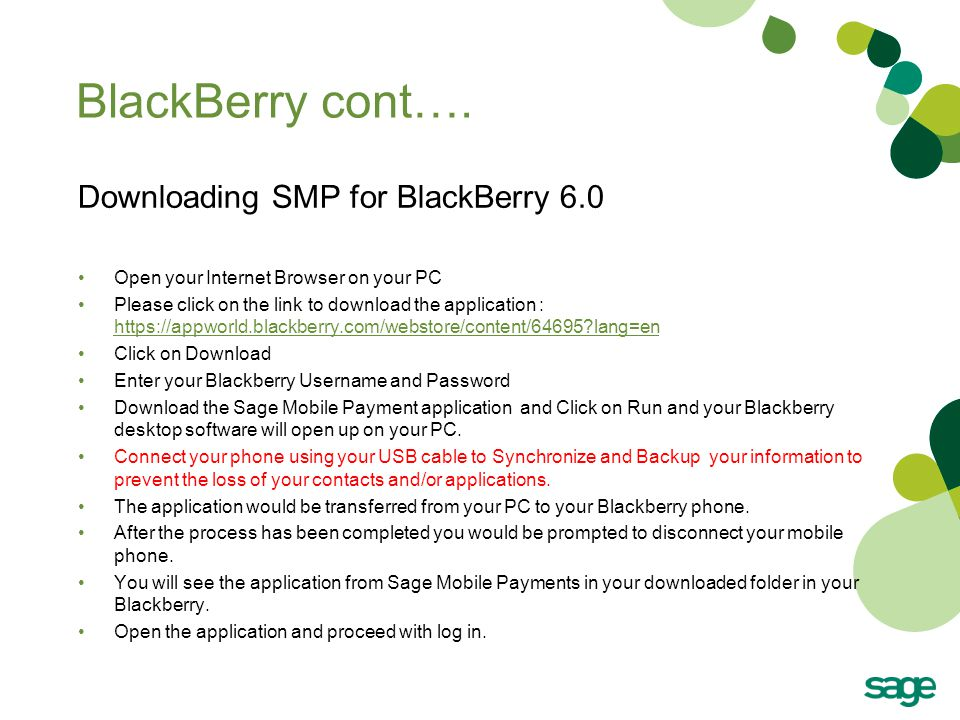 BlackBerry cont….