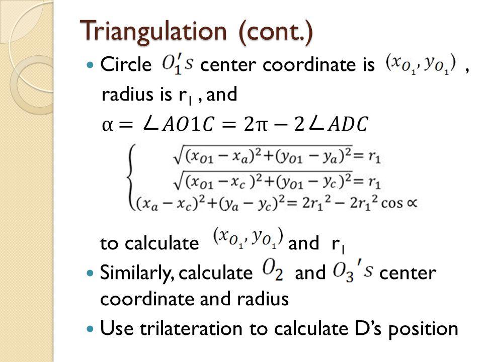 Triangulation (cont.)