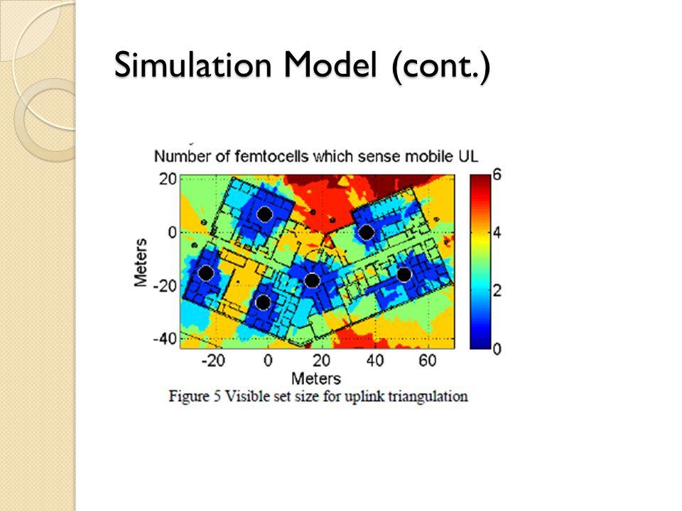 Simulation Model (cont.)