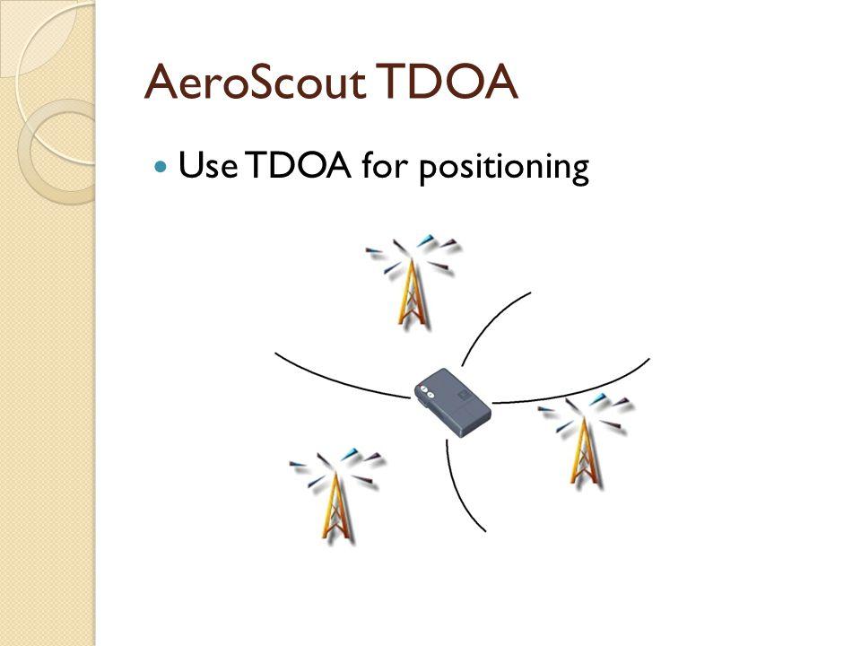 AeroScout TDOA Use TDOA for positioning
