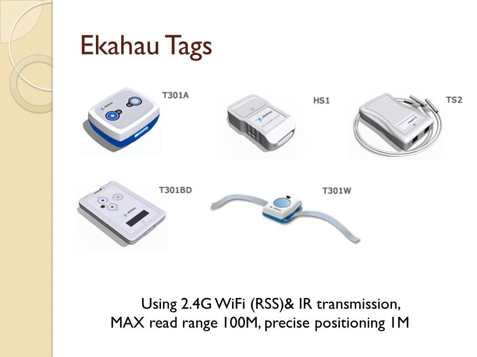 Ekahau Tags Using 2.4G WiFi (RSS)& IR transmission, MAX read range 100M, precise positioning 1M