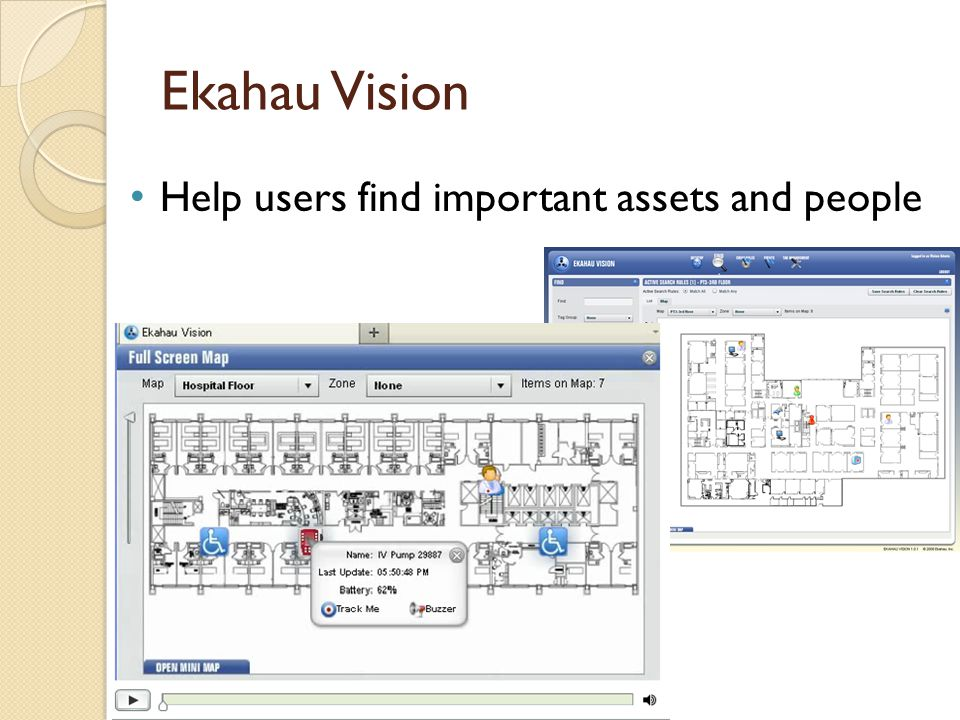 Ekahau Vision Help users find important assets and people
