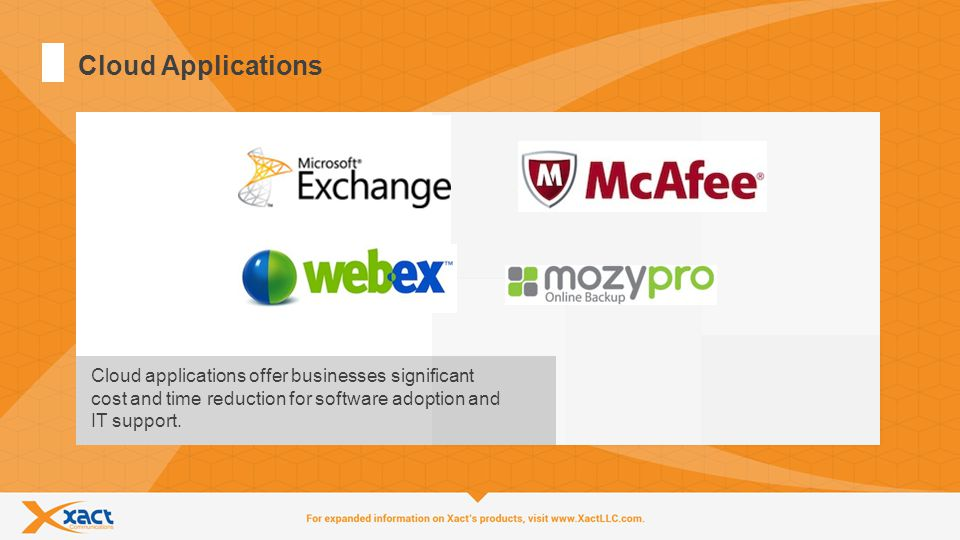 11 Cloud Applications Cloud applications offer businesses significant cost and time reduction for software adoption and IT support.