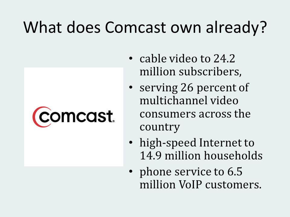 What does Comcast own already.