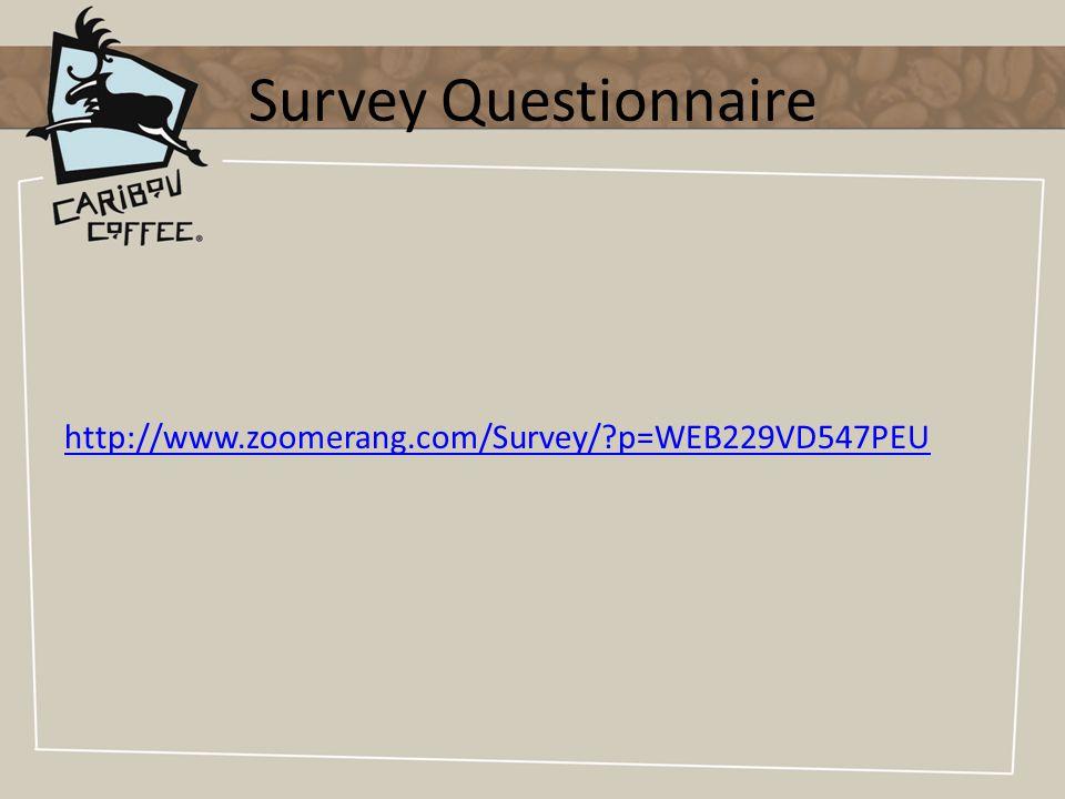Survey Questionnaire http://www.zoomerang.com/Survey/ p=WEB229VD547PEU