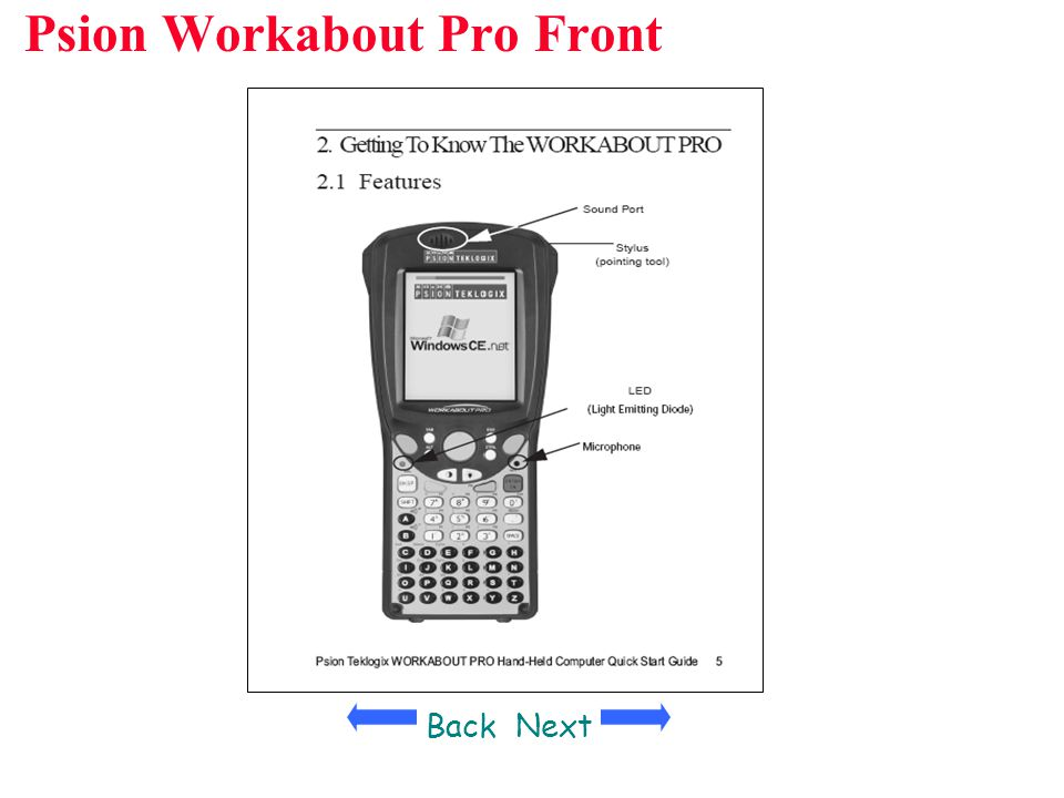 Psion Workabout Pro Front Y BackNext