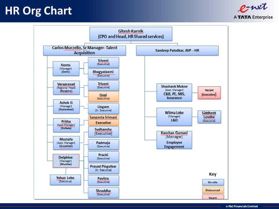 e-Nxt Financials Limited HR Org Chart