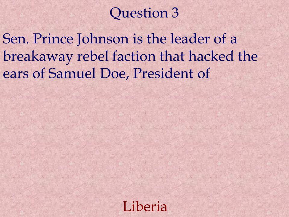 Question 3 Sen.