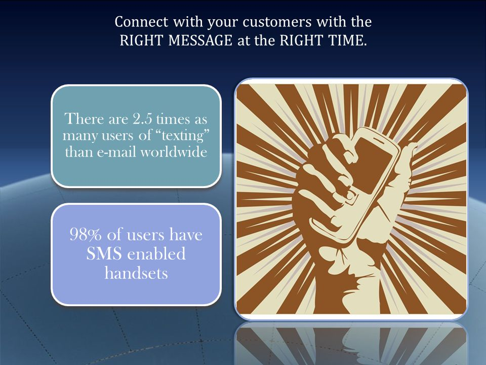 Making Money With Mobile Customer Opts-In Mobile Offer Sent Customer Comes Back