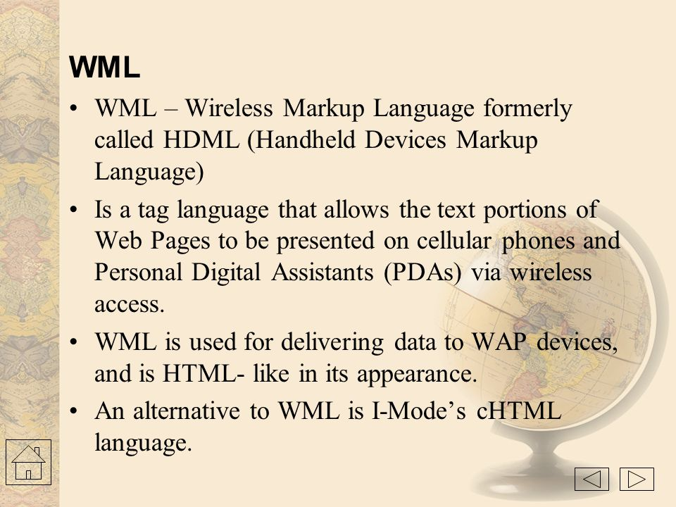 WAP Gateway - Intermediary element used to connect two different types of network. It receives request directly from the clients as if it actually wer