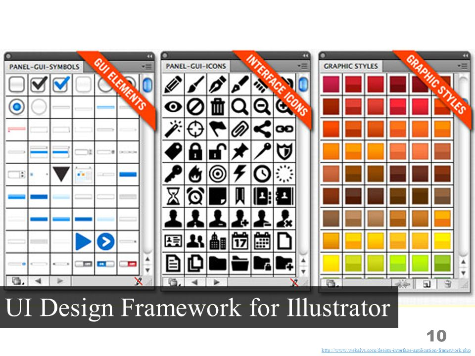 10 UI Design Framework for Illustrator