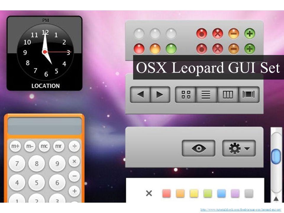 OSX Leopard GUI Set