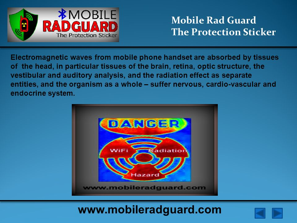 Mobile Rad Guard illustrate Effects of Electromagnetic Field Mobile Rad Guard The Protection Sticker www.mobileradguard.com