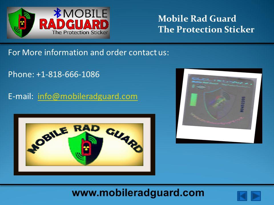 Mobile Rad Guard The Protection Sticker www.mobileradguard.com