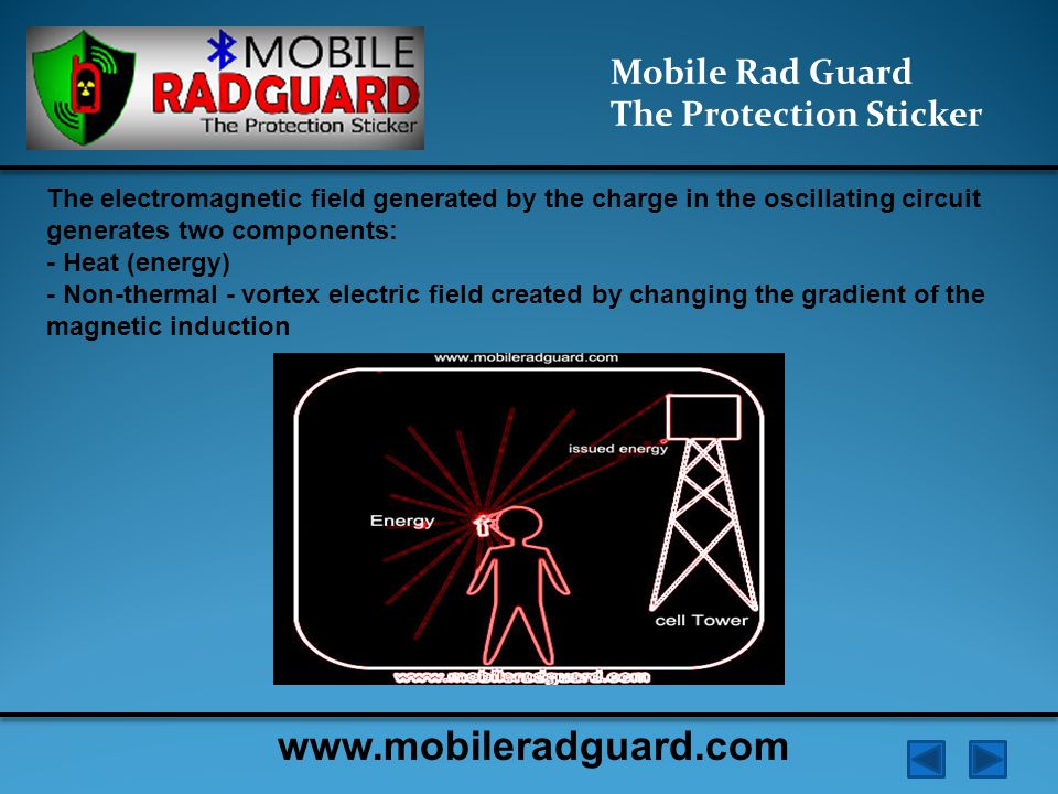 Mobile Rad Guard The Protection Sticker When using the mobile phone creates a complicated (nonlinear) pattern of distribution of electromagnetic intensity in the near zone .