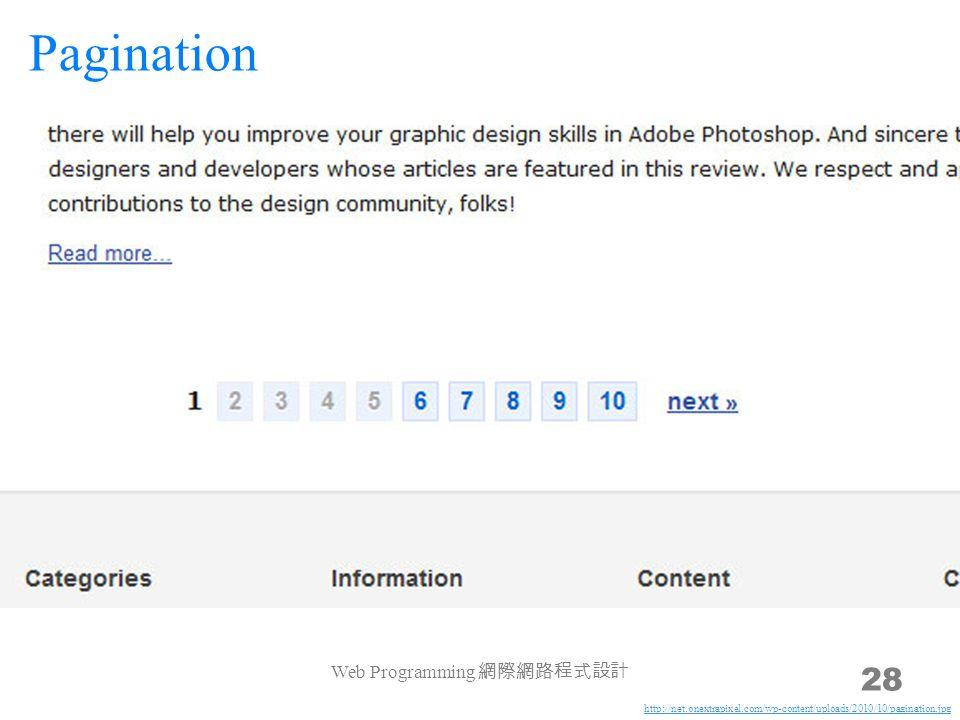 Web Programming 網際網路程式設計 28