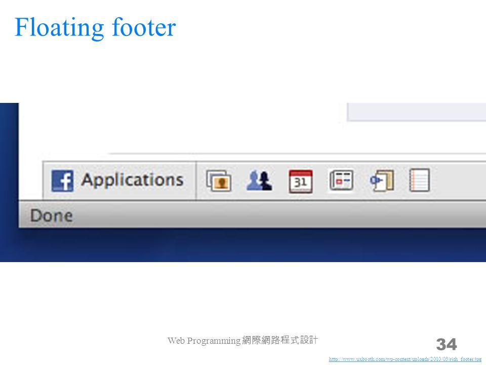 Web Programming 網際網路程式設計 34